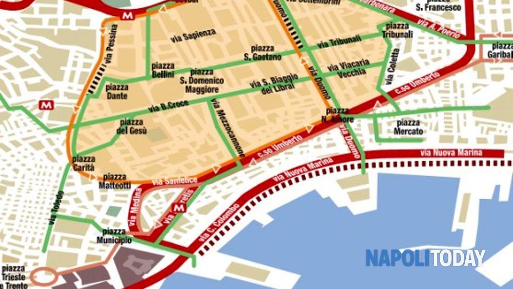Cartina Ztl Napoli.Ztl Napoli Giovedi Sit In Di Protesta