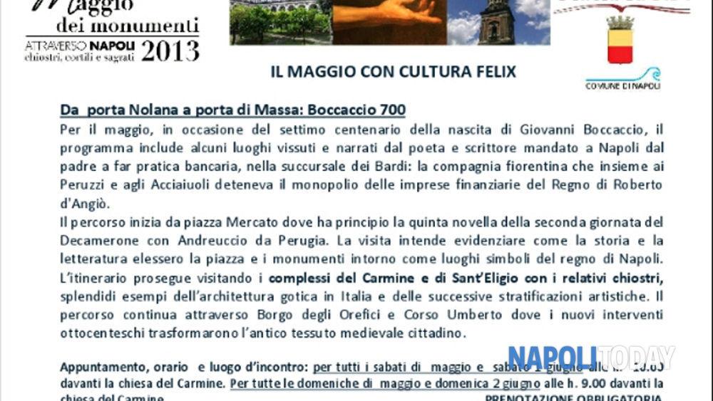 Il maggio con cultura felix da porta nolana a porta di - Porta di massa napoli ...