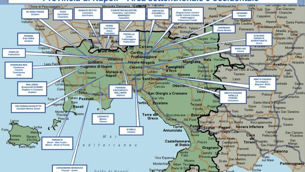La Cartina Di Napoli.La Mappa Della Camorra In Provincia Di Napoli Tutti I Clan